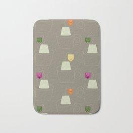 Tea time - Fabric pattern Bath Mat