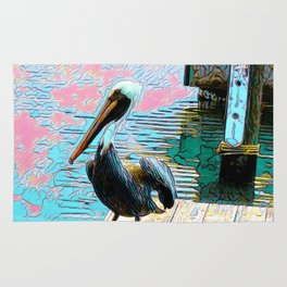 Pelican at the Harbor Rug