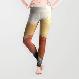 Abstract in Rust n Clay Leggings