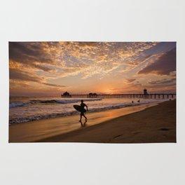 Surf City Sunsets   9/10/15   Huntington Beach California  Rug