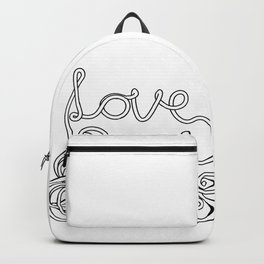 Spaghetti Love in Black and White Backpack