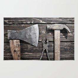 Old rusty tools Rug