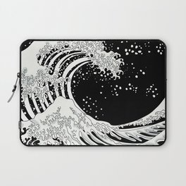 Black and White Great Wave Laptop Sleeve