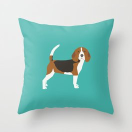 Beagle cute dog gifts pure breed must haves beagles Throw Pillow