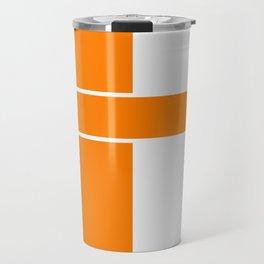 Team Color 6...orange,white Travel Mug