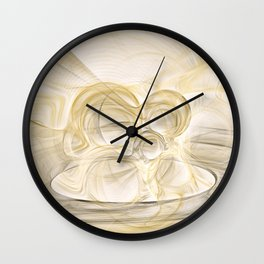 Series Abstract Art in Earth Tones 2 Wall Clock