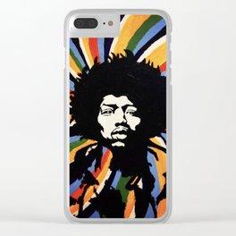 Jimi Hendrix Clear iPhone Case