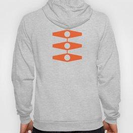 abstract eyes pattern orange tan Hoody