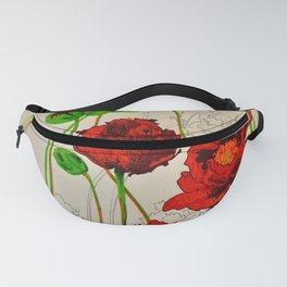 Very Red Flowers Fanny Pack