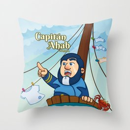 Capitán Ahab Throw Pillow