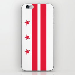 Flag of the District of Columbia - Washington D.C authentic version iPhone Skin