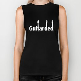 Guitarded Tee Electric Guitar Music Band Funny Birthday Gift Guitar T-Shirts Biker Tank