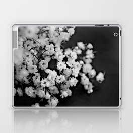 Baby's-breath black and white Laptop & iPad Skin