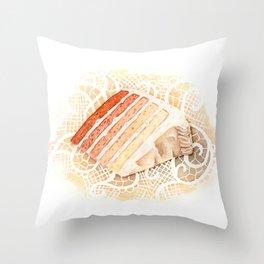 Ombre Cake Slice Throw Pillow