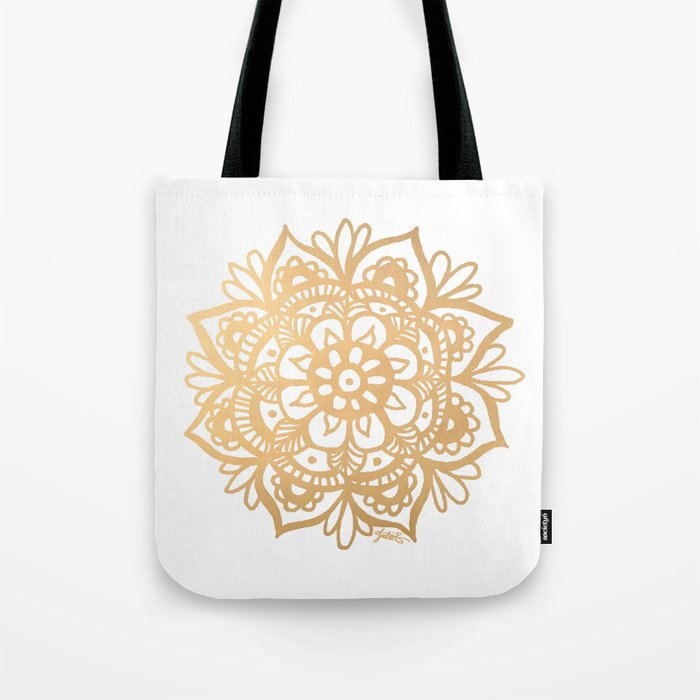 Gold Mandala Tote Bag