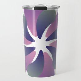 Purple ombre flower spiral Travel Mug