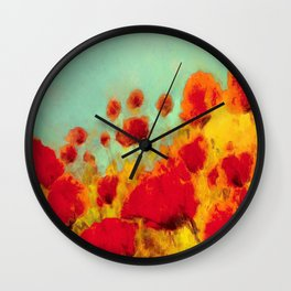 FLOWERS - Poppy time Wall Clock