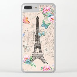 Paris - my love - France Nostalgy - pink French Vintage Clear iPhone Case