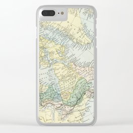 Vintage Map of The East Of Canada Clear iPhone Case
