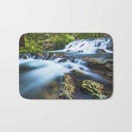 High motion waterfall Bath Mat