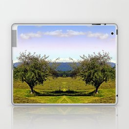 Fresh grass and old apple tree | landscape photography Laptop & iPad Skin