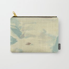 Blue & Cream Monoprint Carry-All Pouch
