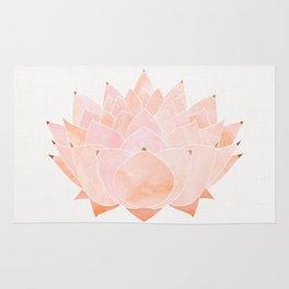 Blush Zen Lotus ~ Metallic Accents Rug