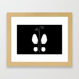 Shoes-Butterfly Framed Art Print