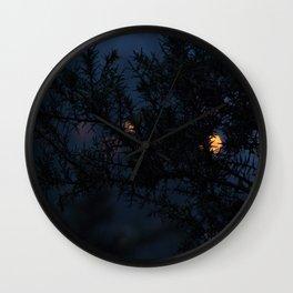 Bokeh thorns Wall Clock
