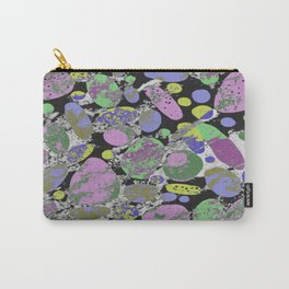 Crazy Paving - Abstract, textured, pastel coloured artwork Carry-All Pouch