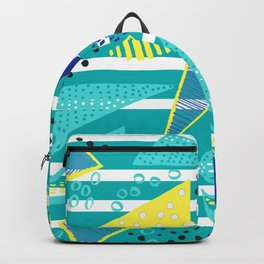 Venice Beach Triangle Pattern Backpack