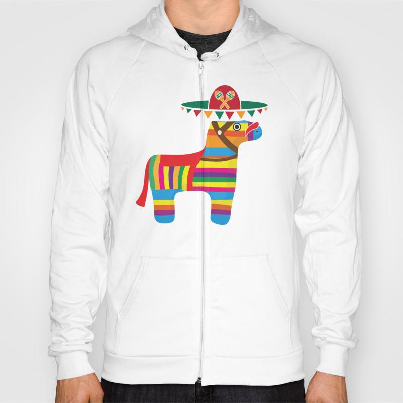 Pinata With Sombrero Mustache Cinco De Mayo Hoody by Teepsy SSR8927497