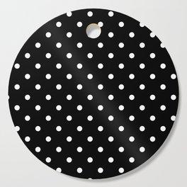 Black & White Polka Dots Cutting Board