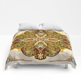 Mandala Sacred Rams - Bright Version Comforters