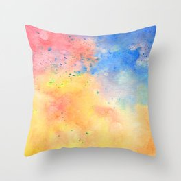 Watercolor page Throw Pillow