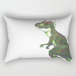 Pretty T-Rex Rectangular Pillow