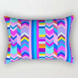 Striped Kilim in Cool Multi Rectangular Pillow