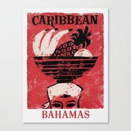 The Bahamas - Vintage Travel Poster Canvas Print