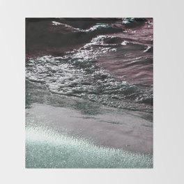 Dark Saturated Sea Coast Throw Blanket