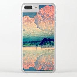 Admiring the Clouds in Kono Clear iPhone Case