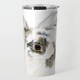 Pixie the Lionhead Rabbit by Teresa Thompson Travel Mug