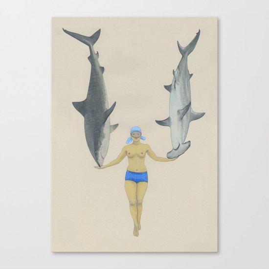 The Shark Charmer Canvas Print