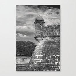 Castillo de San Marcos - black and white Canvas Print