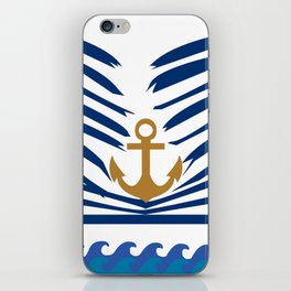 Sinking Anchor by Chantal Zorzi iPhone Skin
