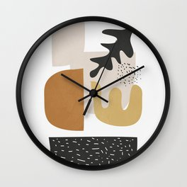 Abstract Shapes  2 Wall Clock