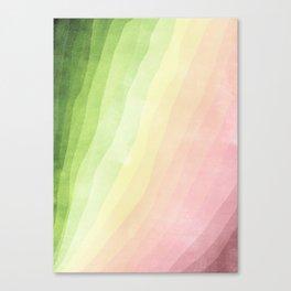 Stratum 8 Pastel Greenery Canvas Print