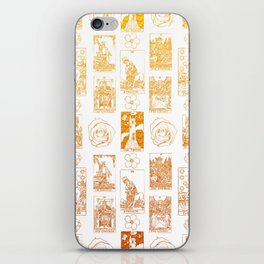 Beautiful Golden Tarot Card Print iPhone Skin