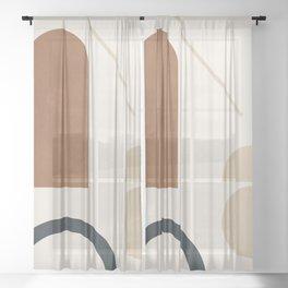 Geometric Modern Art 32 Sheer Curtain