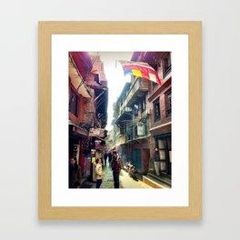 A Bhaktapur Alley Framed Art Print