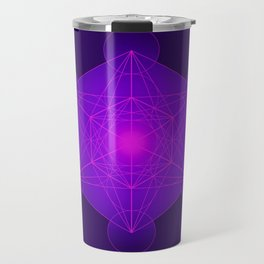 Metatron | Cube | Secret Geometry | Platonic | Matrix | Protects children Travel Mug